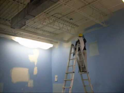Interior Commercial Painting With Airless Sprayer