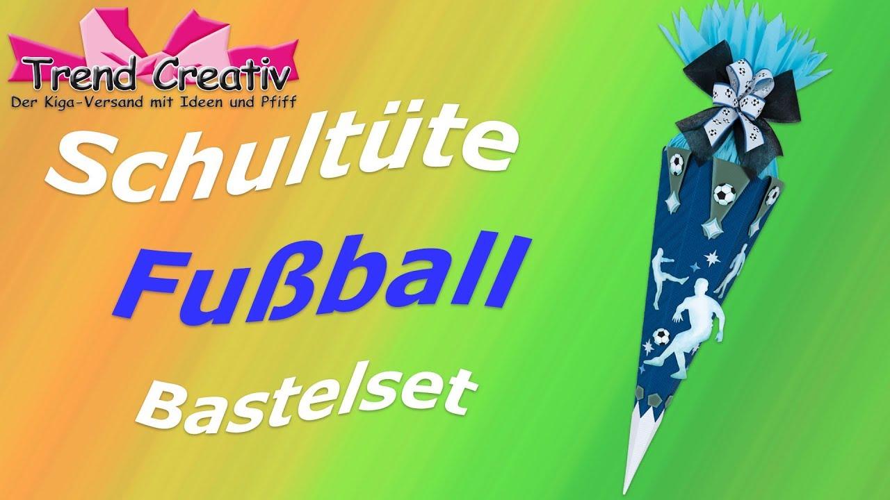 Schultute Fussball Anleitungsvideo Schultuten Tutorial Basteln Mit Kinder