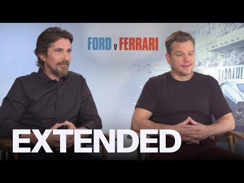 Christian Bale, Matt Damon On Batman & Jason Bourne Fighting In 'Ford V. Ferrari'   EXTENDED
