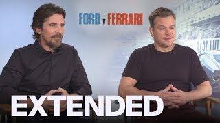 Christian Bale, Matt Damon On Batman & Jason Bourne Fighting In 'Ford v Ferrari'   EXTENDED