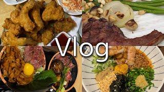 시골 직장인vlog:먹고 운동하고, 오리고기 샌드위치,…