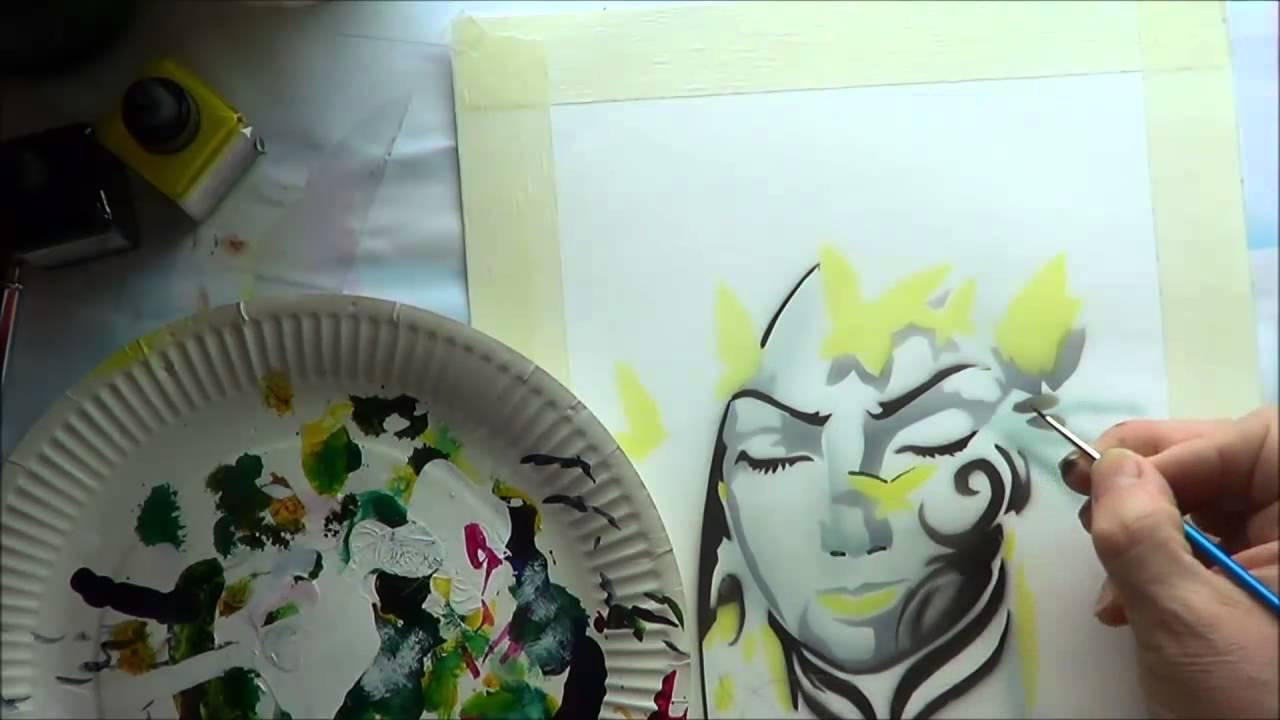 Airbrush Schablonen zum ausdrucken Schmetterling Traum Teil 2