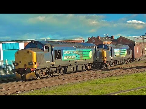 DRS 37602 + 37667 At Worcester Shrub Hill Working Berkeley C.E.G.B. to Crewe Coal Sidings