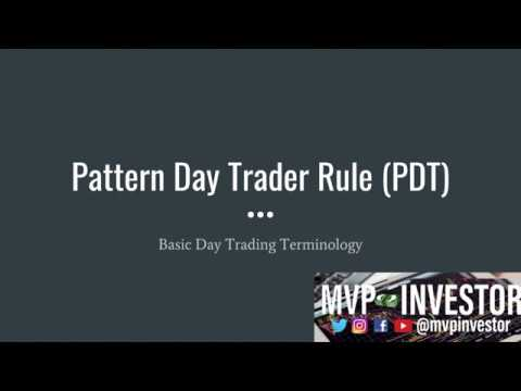 Pattern Day Trader Rule Basic Day Trading Terminology YouTube Magnificent Pattern Day Trader