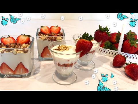 Qulupnayli Pudding / пудинг с клубниками / Pudding With 🍓🍓🍓