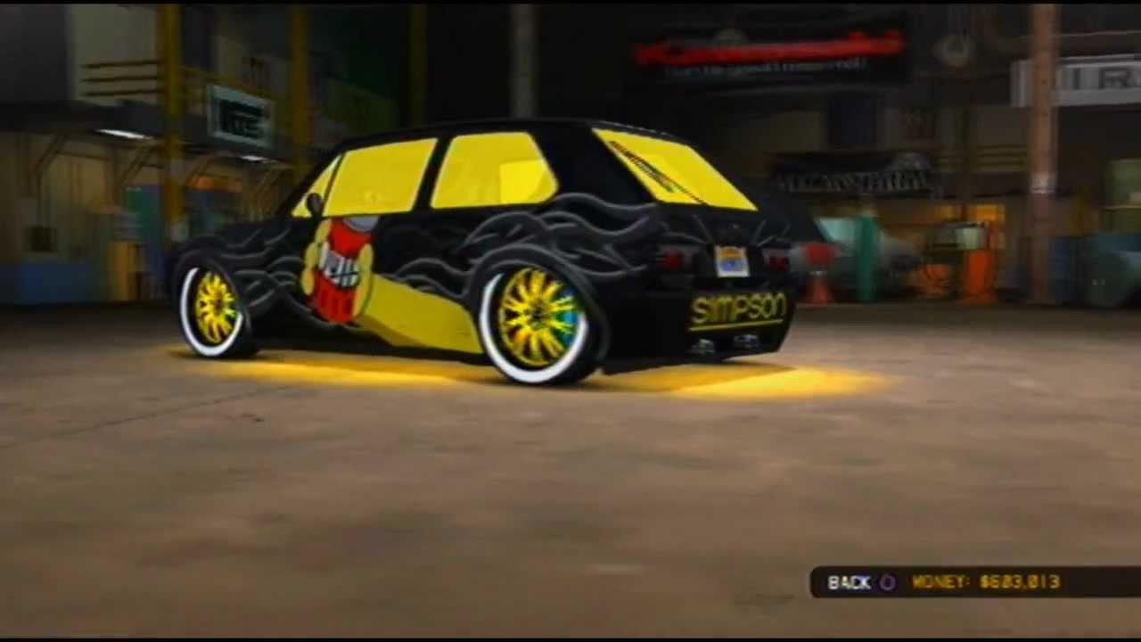 My Midnight Club La Homer Simpson Car Xpurefusiionz