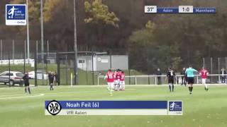 A-Junioren - VfR Aalen vs. SV Waldhof Mannheim 1:0 - Noah Feil