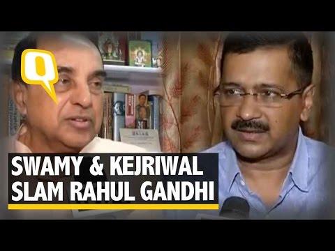 The Quint: Swamy and Kejriwal Slam Rahul for his 'Khoon Ki Dalali' Comment