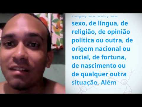 Antmnio Natan Dos Santos Lopes, Brazil, reading article 2 of the Universal Declaration of Human Righ