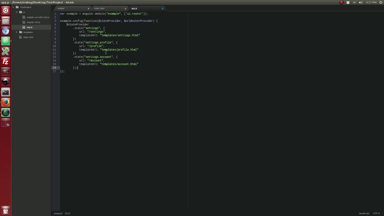 Using Nested States With The AngularJS UI Router