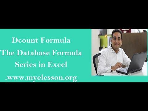 MS Excel Dcount Formula