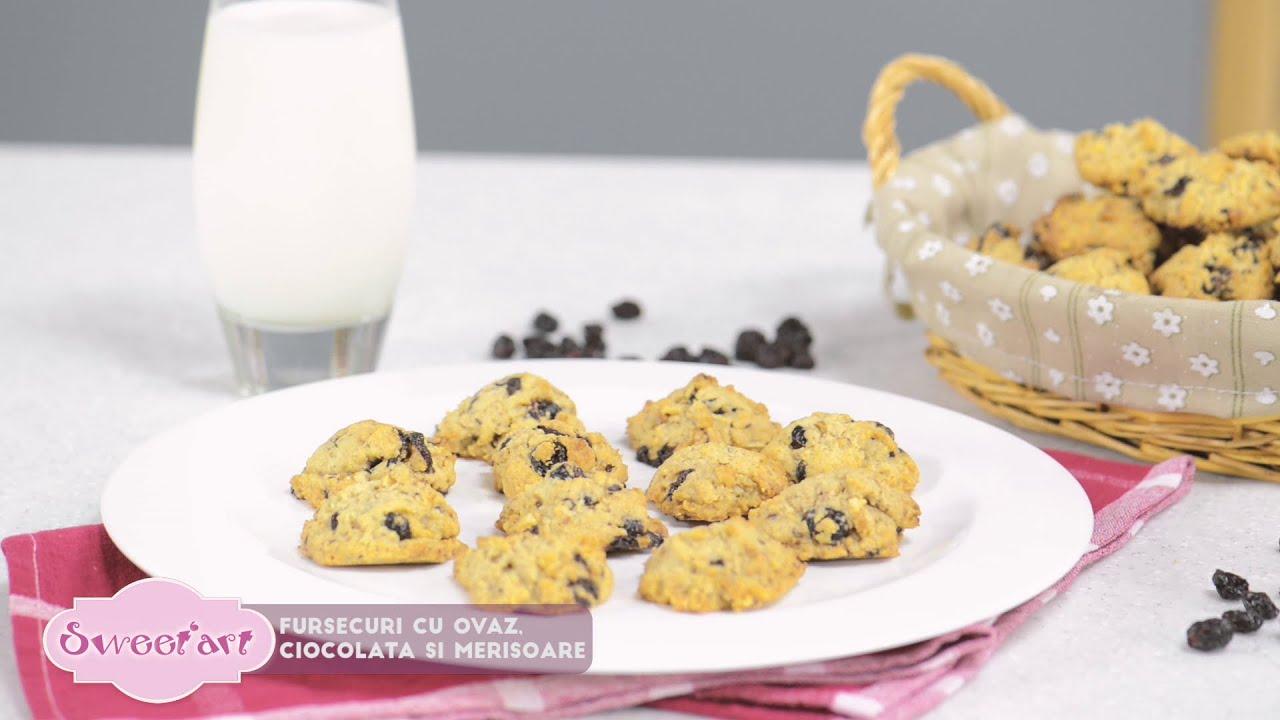 Reteta - Fursecuri cu ovaz, ciocolata si merisoare | Bucataras TV