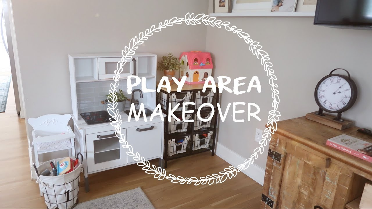 Play Area Makeover A Creative Stylish Way To Store Kids Toys