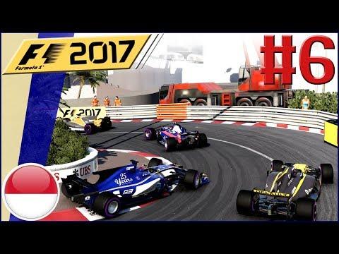 F1 2017 KARRIERE #6: Verrücktes Rennen auf den Straßen von Monaco!