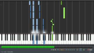 Chopin: Prelude In E Minor - Op. 28 No.4 (50% Speed) Piano Tutorial (Synthesia) + Sheet Music & MIDI