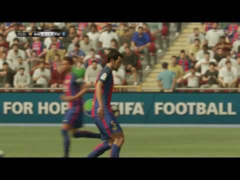 FIFA 17    Barcelona VS PSG FULL GAMEPLAY (PS4/Xbox One)