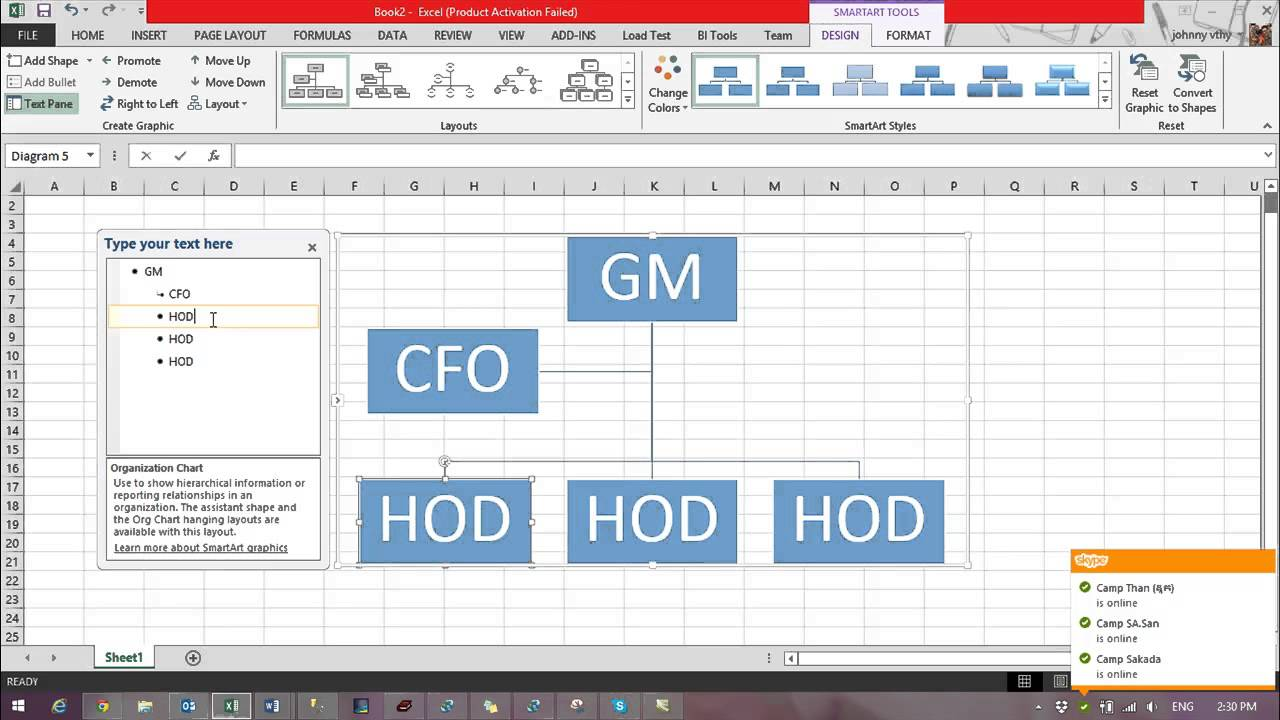 creating a flowchart in excel