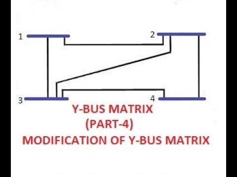 Y BUS MATRIX (PART-4) (MODIFICATION OF Y-BUS)GATE/IES/ISRO/BARC