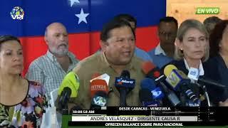 Venezuela - Andrés Velásquez ofreció balance acerca del acatamiento al paro - VPItv