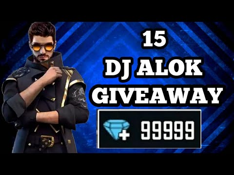 15 DJ ALOK GIVEAWAY // BIG GIVEAWAY//FREE DJ ALOK //UNLIMITED DIAMOND//FUNNY GAMEPLAY//2 week time