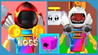 Opening Legendary Hat Crates - Roblox Mining Simulator