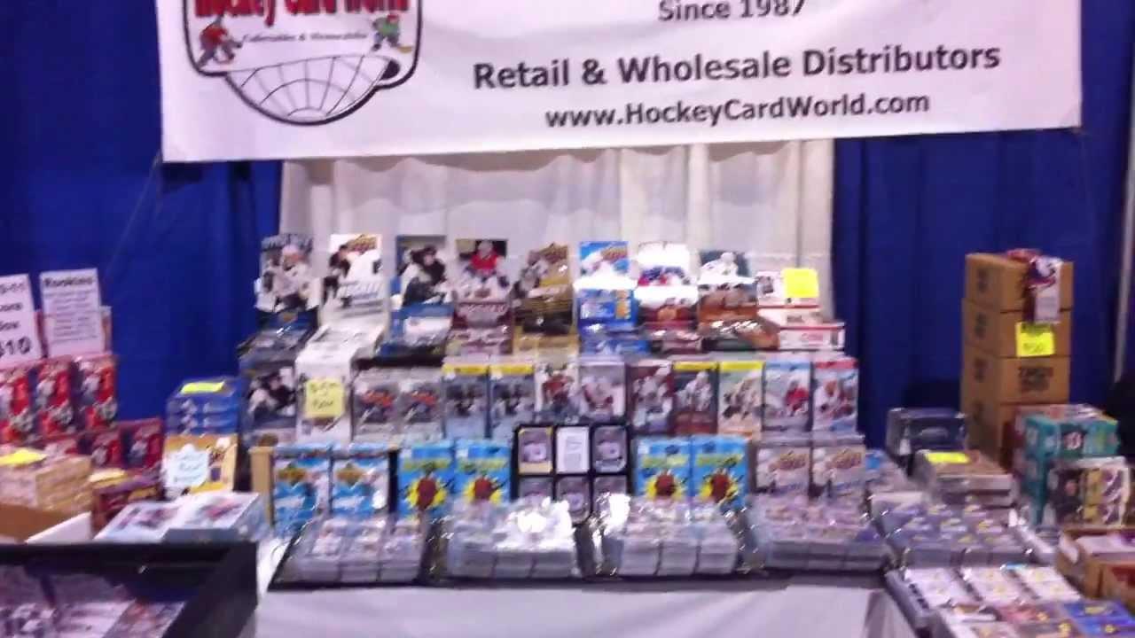 hockey card world at toronto sports card expo 2013 youtube