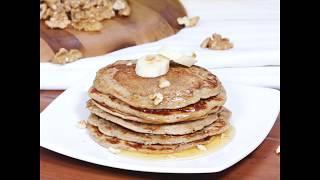 Whole Wheat Banana Pancakes |  Whole Wheat Banana Pancakes Recipe | Banana Pancakes Recipe