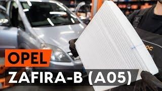 Как се сменят Филтър въздух за вътрешно пространство на OPEL ZAFIRA B (A05) - онлайн безплатно видео