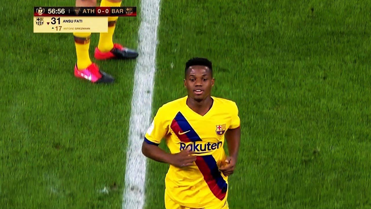 Download Ansu Fati vs Athletic Bilbao (Copa de Rey) HD (6/2/20)