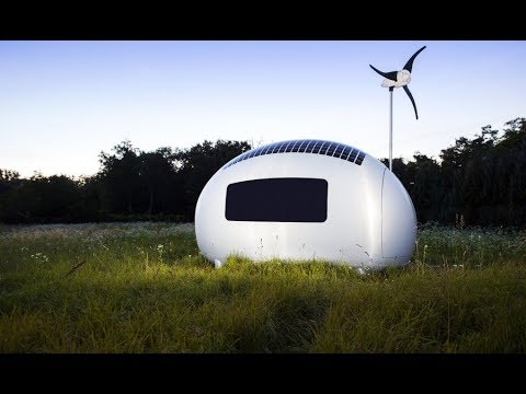 Sustainable Living in Ecocapsule off-grid micro house