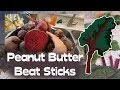 Healthy Snack - Peanut Butter Beet Sticks