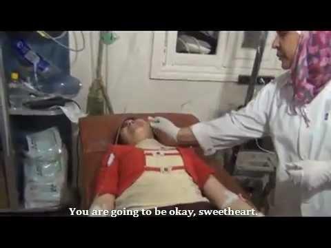 SNN   Syria   Homs   Girl Steps on Land Mine, Injures Leg   Sep 18, 2012