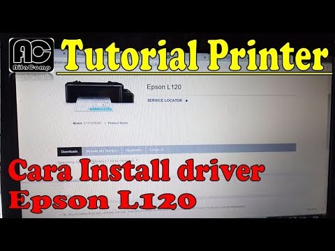 How to Install Epson L120 printer driver without the driver CD.
