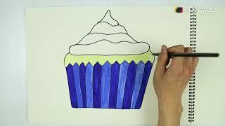 [꿀잼유아미술] 귀엽고 달달해요! 컵케이크 그리기 [시…