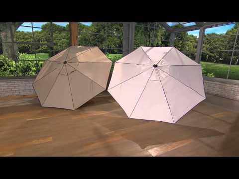 Scott Living Crank & Tilt Umbrella with Cover with Carolyn Gracie