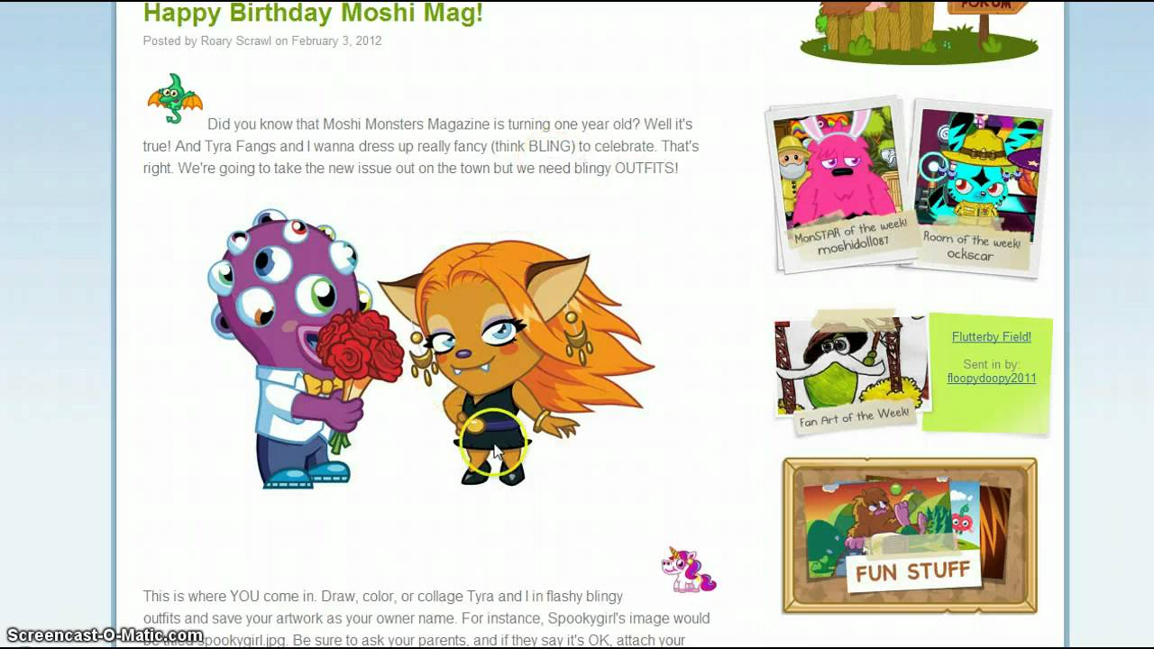 Moshi Monsters Happy Birthday Moshi Mag!