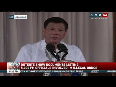 Duterte: PH narco problem is like stage 2 cancer