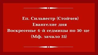 Еп. Сильвестр (Стойчев). 5 июля 2020 года. Евангелие дня с толкованием