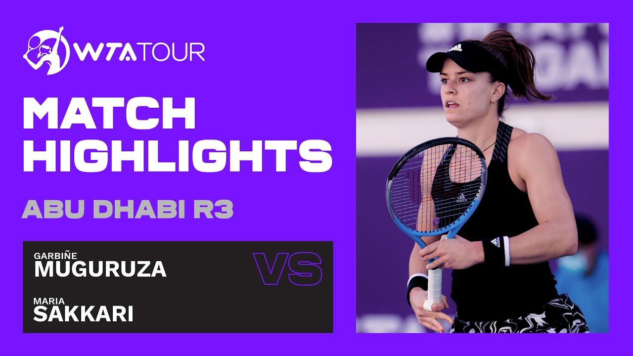 Maria Sakkari vs. Garbine Muguruza | 2021 Abu Dhabi Third Round | WTA Highlights