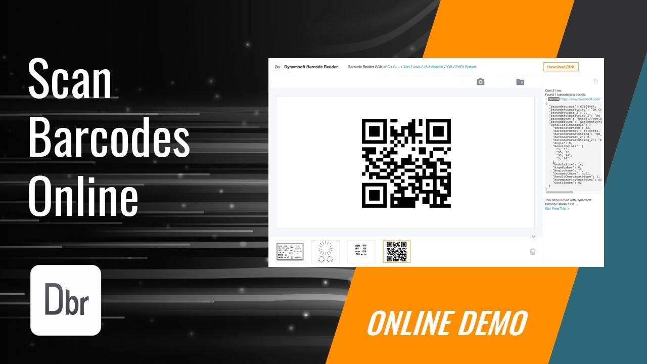 Online Barcode and QR Code Scanning | Dynamsoft Barcode Reader