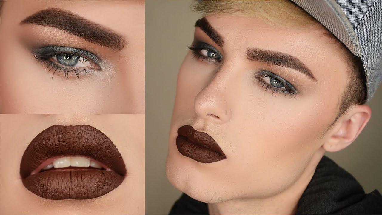 Mini Life Update   Dark Smokey Eye W/ Brown Lips - Makeup Tutorial - YouTube
