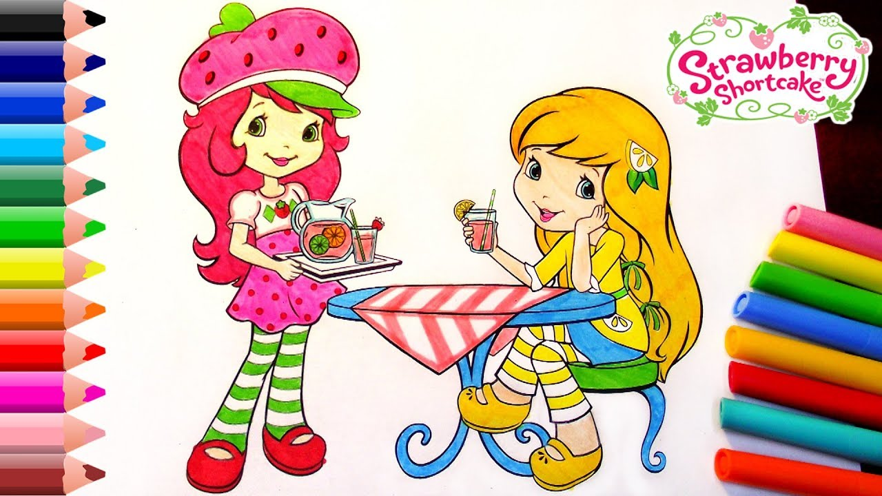 Strawberry Shortcake Coloring Pages For Kids / Strawberry Shortcake ...