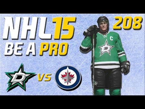 NHL 15 [Be A Pro] #208 - Dallas Stars - Winnipeg Jets ★ Let's Play NHL 15