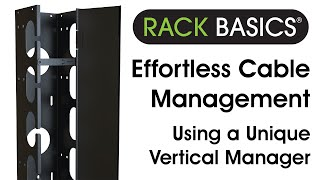 Effortless Cable Management - Rack Basics Rb-vcm44