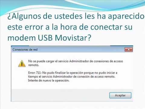 Error 711[Conexion de Acceso Remoto] Solucionado.wmv