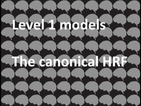 Day 15: Level 1 modeling, the canonical HRF