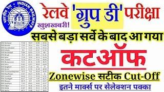 Railway Group D Zonewise Cutoff Marks After Answerkey | Group d सबसे सटीक Cutoff पूरा सर्वे के बाद!