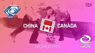HIGHLIGHTS: China v Canada - Women semi-final - World Junior Curling Championships 2018