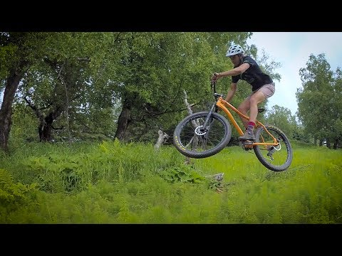 Dirt jumping in Kincaid Park, Anchorage