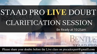 STAAD Pro Live Session | STAAD Pro Course Tutorials